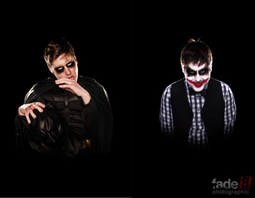 Batman/The Joker This was a series of Self Portraits exploring the concept of identity within the realm of pop culture. The photographs were an exploration of Comic Book culture in todays society, in combination with the archival nature of comic books themselves and how they can define identity. Photos copyright (c) Andrew Graham 2012 All make up and effects were created by Purple Vine Make up.