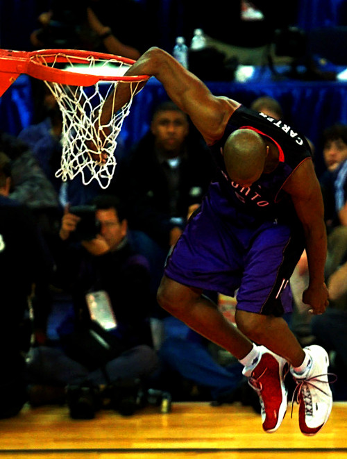 rasdivine:  Vince Carter came stuck his arm in the rim everybody went crazy in the whole damn gym.