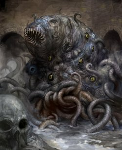 thelastraigeki:  Shoggoth by ~douzen An awesome rendition of a Shoggoth here by Douzen.