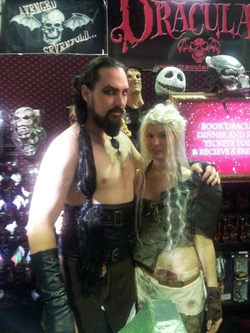 Khal Drogo. His costume was so accurate. I really didn't know how to pose with him. He was pretty busy at the time. I really considered asking him to do a photoshoot with me later. But Supanova can be reeeally tiring.