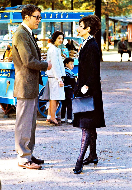 Peter O'Toole and Audrey Hepburn in Paris during the filming of How to Steal a Million (1966). Photo by Terry O'Neill