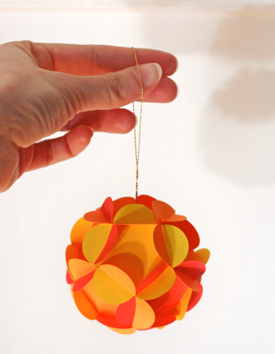 3D paper ball ornaments by How About Orange