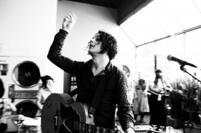 "laudanumat33:  Jack White performing a ""secret"" show at City Laundry in Portland, OR, August 15, 2012."