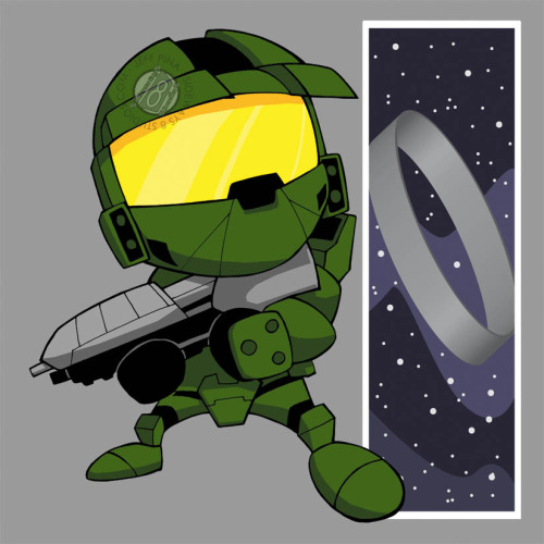 Chibi Master Chief by ~Sideways8Studios CHIBI MASTER CHIEF! Need I say more?