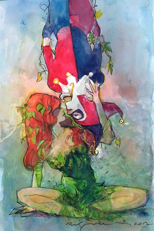 travisellisor:  Harley Quinn and Poison Ivy by Bill Sienkiewicz