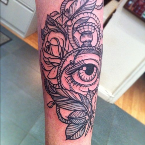 by Flo Nuttall @ love hate tattoo, edinburgh, scotland.