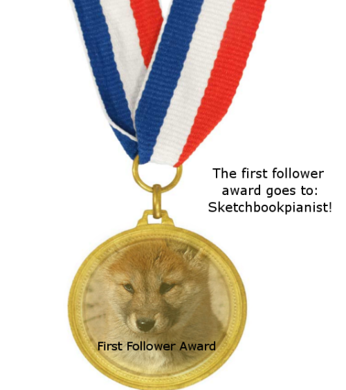 A medal for sketchbookpianist! See I told you I'd make it!