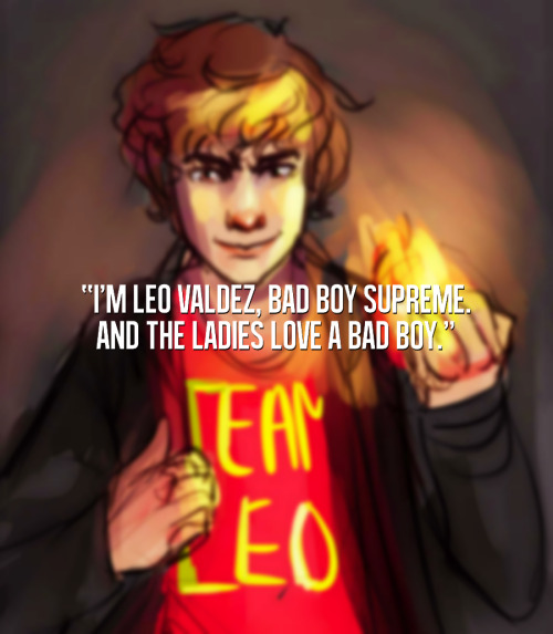 (art)  the-fabulous-percy asked: fav quote of Leo (one of them)