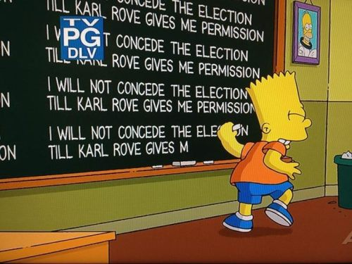 Great humor by The Simpsons tonight regarding Karl Rove's controversial decision on Fixed Noise.
