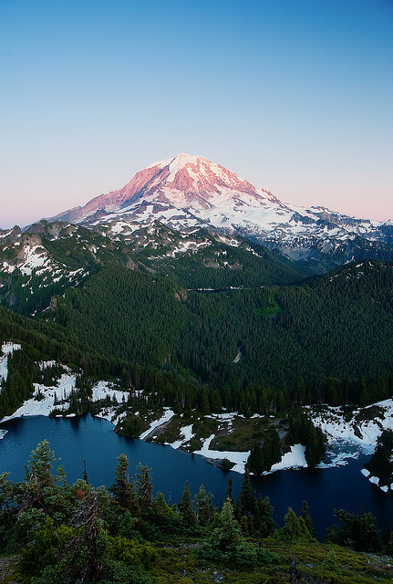 refluent:  Mt. Rainier and Tolmie Lake (by sgwizdak)