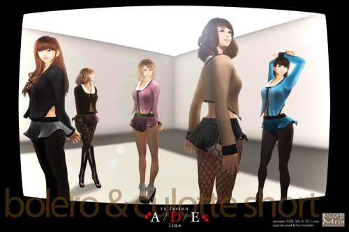 "new release arrival in Collabor88!  The theme of my this work is ""clothes for beautiful feet"". I wish that I want you to enjoy a fashion in combination with sold ""Pantyhose"" from various shops.  Furthermore, please pay attention to the combination with them because many boots are exhibited in this Collabor88. Enjoy Fall in SL!  Collabor88 R2fashion"