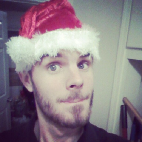 #sexist bastard in the #northpole #Christmas #cap #beard #mustache #blueeyes #theexiledleader