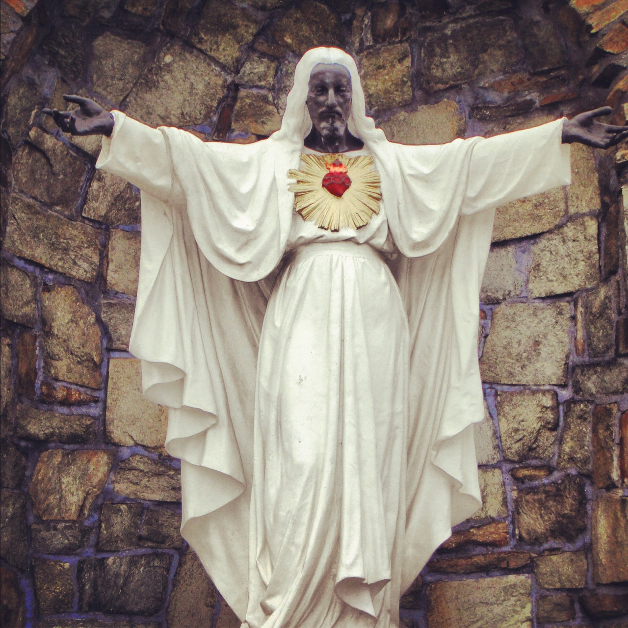 Black Jesus statue at Sacred Heart Major Seminary in Detroit, MI.