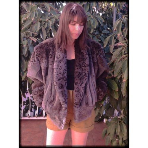 #ootd #vintage #photooftheday #pretty #rabbitfurcoat #furcoat #fashion #style