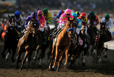 Always A Princess leads the fray in the 2009 Breeders' Cup Juvenile Fillies (I), folding just before the wire to finish 5th behind She Be Wild, Beautician, Blind Luck, and Biofuel.