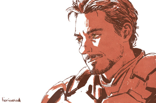 feriowind:  Got bored so I drew a picture of Tony/RDJ from a photo reference….