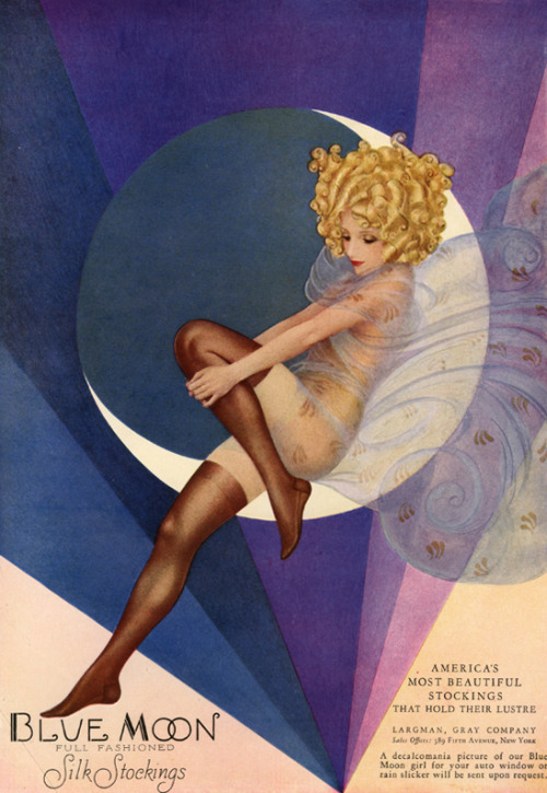 Blue Moon Silk Stockings Advertisement c. 1928