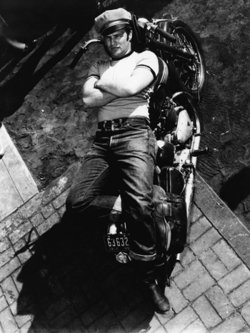 iwalkedtheline:  southside365:  Marlon Brando - The Wild Ones  Effortlessly cool.