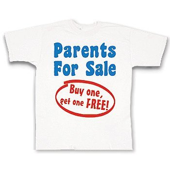 Parents For Sale Hilarious Toddler's T-Shirt»»Buy funny Toddler TshirtsDress you little one in this cute outfit
