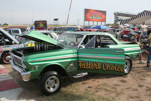 "1965 Ford Falcon Gasser ""Taster's Choice"" by osubuckialum on Flickr."