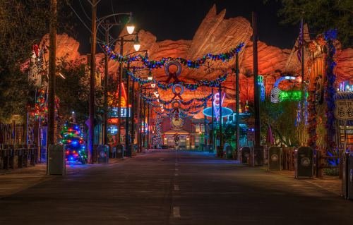 The Merriest Little Town in Carburetor County by Tours Departing Daily on Flickr.Christmas + Cars Land + Tours Departing Daily photography edits = SUPER AMAZINGNESS