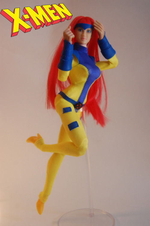 "12"" Jean Grey custom figure, made with removable clothing. now on ebayhttp://www.ebay.com/itm/140881639041?ssPageName=STRK:MESELX:IT&_trksid=p3984.m1555.l2649"