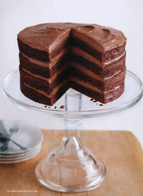 dustjacketattic:  chocolate buttermilk layer cake
