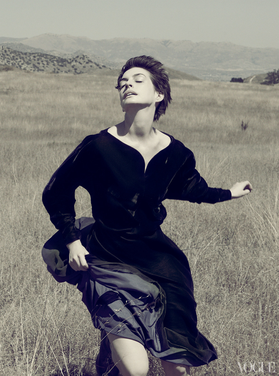 Anne Hathaway: Leap of Faith - Vogue by Annie Leibovitz, December 2012