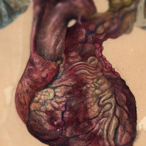 misterbeaudry:  Heart detail… #watercolor #ink #drawing #painting #heart #illustration #art (at Colonial Park Cemetery)