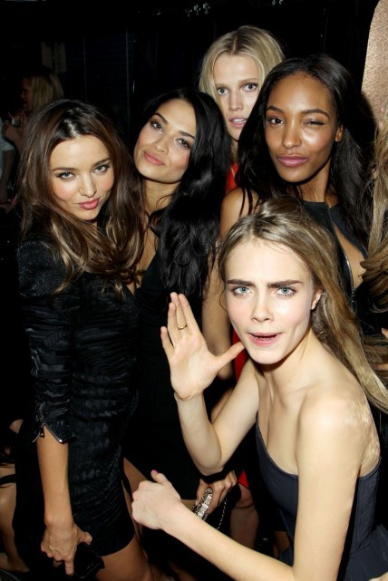 Miranda, Shanina, Toni, Jourdan, and Cara at the VSFS after party