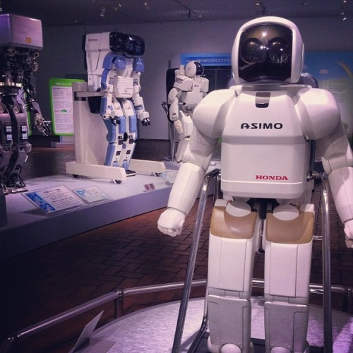 Asimo, poised to lead the RobotRevolution™