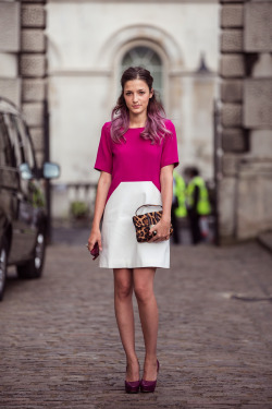 topshop:  Hello little leopard bag! You make that colour-block dress even more exceptional.