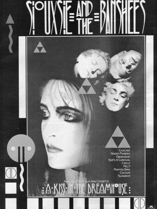 "Siouxsie & The Banshees ""A Kiss in the Dreamhouse"" record ad"