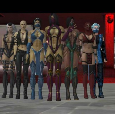themagnify:  The Ladies of Mortal Kombat