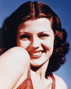 Rita in color, c. 1941.