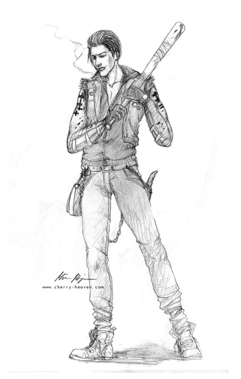 Rae, a zombie hunter. Another one of my OCs. Quick character concept.