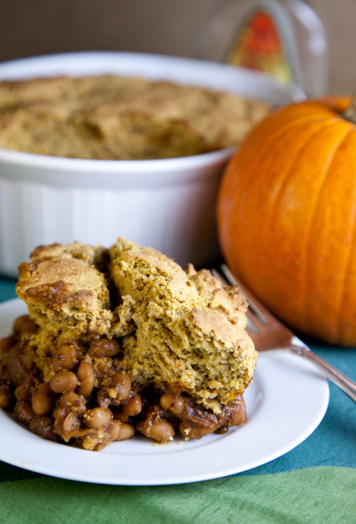 Say hello to Pumpkin Maple Cornbread Baked Bean Casserole! Made by Pickles and Honey for The Blissful Chef. I WANT TO EAT ALL OF THIS ALL THE TIME. It's not just vegan, it's also gluten-free so maybe Jenny will make it for me. Please Jenny! Or I could make it myself, I suppose. Seems like an EXCELLENT Thanksgiving dish, no?