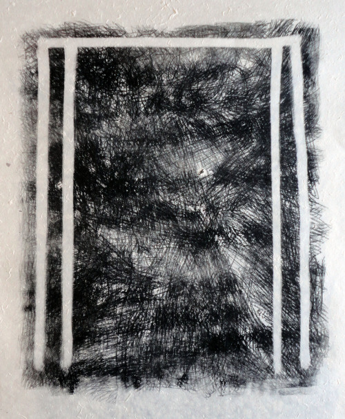 Magnetic monoprint, 'Untitled', 2012.