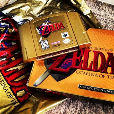Unpacking Find: CE Ocarina of Time Gold Cart!