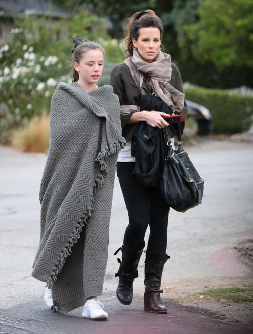 "People in LA (including, apparently, Kate Beckinsale's daughter Lily) were so ""cold"" and unprepared last weekend, they had to wear blankets as coats. Just another reminder that I survived Hurricane Sandy."