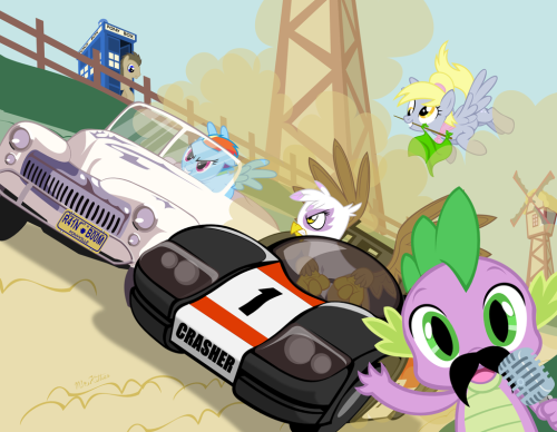Dead Mare's Curve by *PixelKitties Here's my husband, Mr. Kitties, contribution to the Brony Thank You Fund calendar.  At this point, I'm starting to think someone needs his OWN Deviant Art account! If you can, please consider parting with $15 and $5 shipping to get your very own calendar!  Proceeds go towards establishing an animation scholarship at the California University of Arts.  A  good cause, a calendar filled with lovely arty things- you can't lose!  Click here to GIT YOU ONE! And while you're busy clicking on things check out the brilliant, amazing, unbelievably awesome contributors to the calendar! Fetchbeer lilytrader AleximusPrime Hinoratio Hezaa Egophiliac Toxic Mario AutobotGirl Pixelkitties Other artists include John Joseco and Tsitra360!