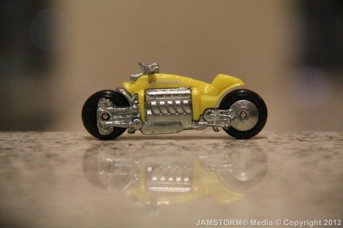 """Yellow Blitzkrieg!"" Date: November 12, 2012 Theme: Cool Styled Wheels! Where: Glorietta 1 in Ayala Mall, Makati City, Philippines Models: Dodge Tomahawk (Hot Wheels: 2007 All-Stars ), Mattel Production Date: November 12, 2012 Camera: Canon EOS 60D / Kit: EF-S 18-135mm IS"