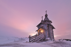 landscapelifescape:  Trinity Church, a small Russian Orthodox church on King George Island near Russian Bellingshausen Station, Antarctica