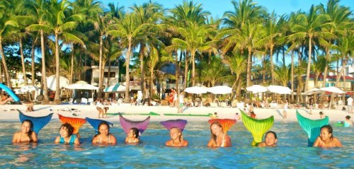 """ Mermaid Camp ""  …..  Philippine Mermaid Swimming Academy, Boracay, PI"