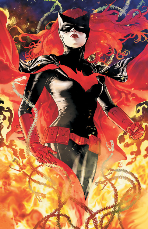 Batwoman Batman February Cover Kate Kane JH Williams