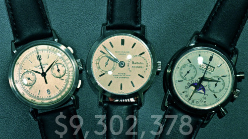 Three watches, $9.3 million.  This is the world we live in.
