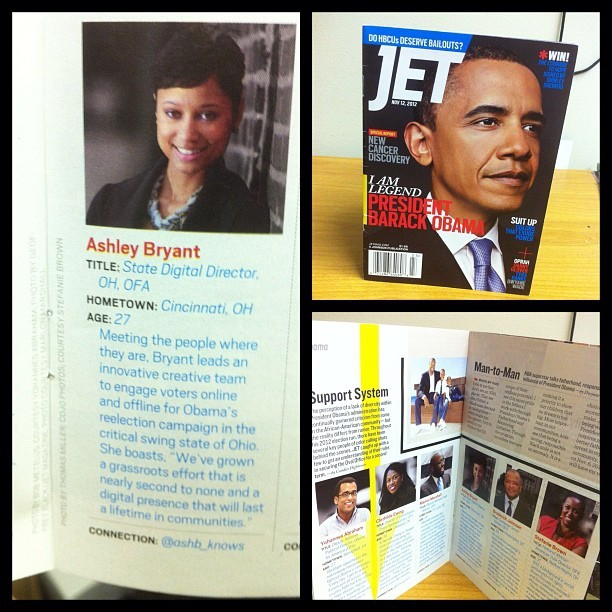 Honored to represent a piece of @BarackObama's team in @GetJETMag! Grab a copy!