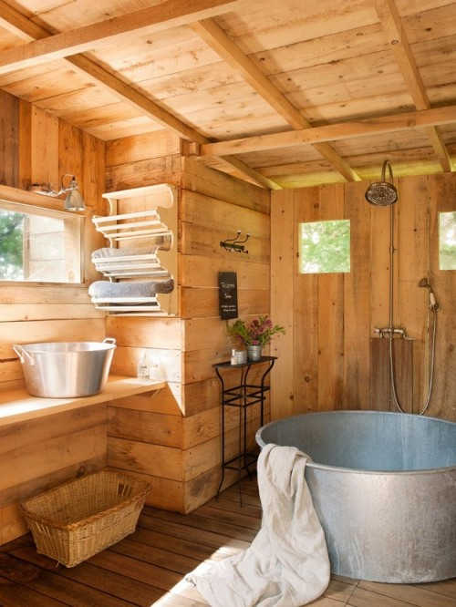 justthedesign:  Bathroom French Farmhouse By Grain & Ficelle