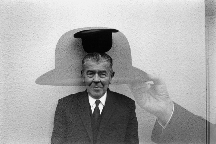 ikilledjackjohnson:  Duane Michals - Magritte with Hat