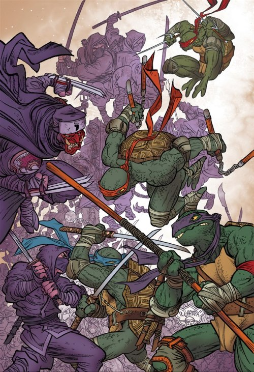 bossbattle:  I came across this Rafael Grampá Teenage Mutant Ninja Turtles piece recently and I can't stop staring at it.  His level of detail and character design is impecable.